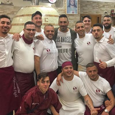 Gennaro Iezzo, ex portiere SSC Napoli, alla Pizzeria verace Napoletana
