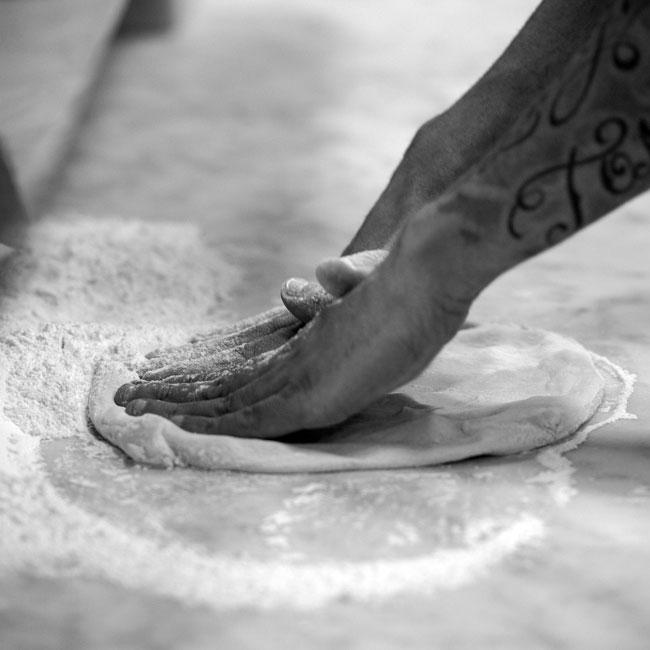 L'impasto della pizzeria napoletana Gigino&Figli