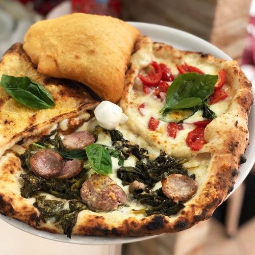 Pizza Chimica, pizza speciale a quattro gusti della pizzeria Gigino&Figli