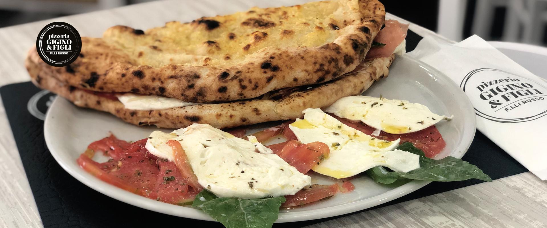la pizza con zizzona di battipaglia della pizzeria Gigino&Figli di Soccavo