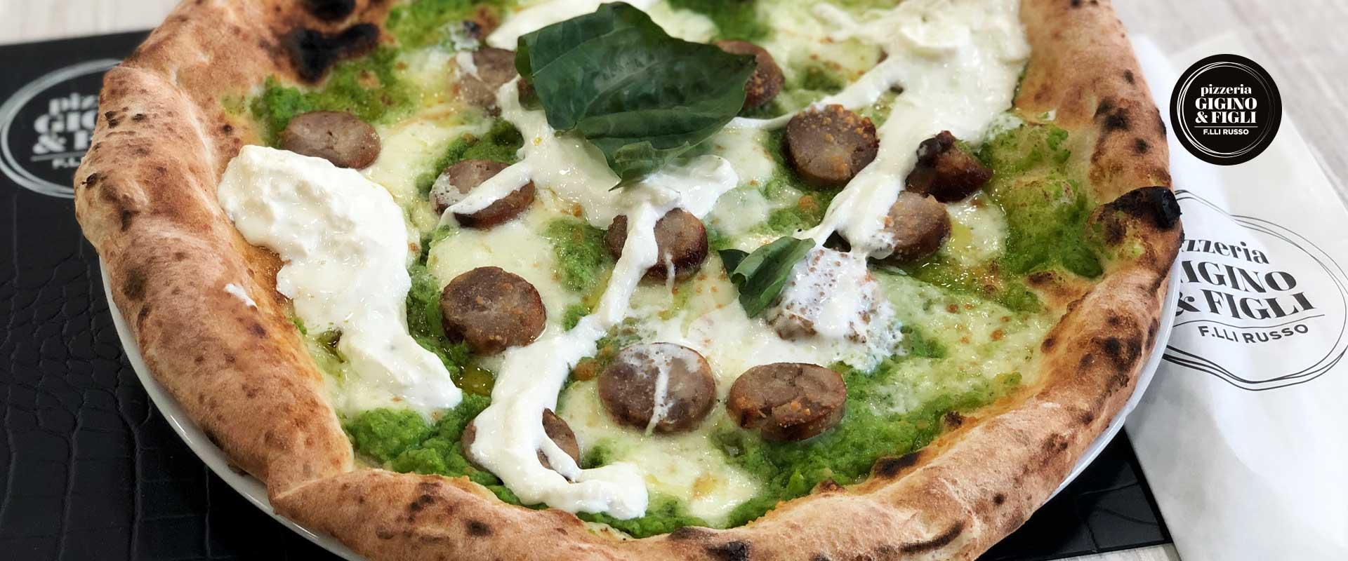 Pizza con stracciatella di Bufala